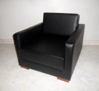 Urban Retro Low Sitting Flip Out Chair Bed Upholstered in A