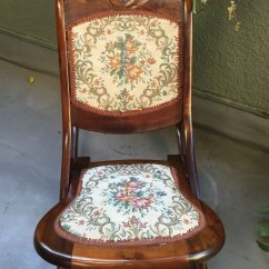 Antique Wooden Rocking Chairs Blush Chair Sashes Vintage Foldable Hand Carved With