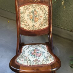 Solid Oak Pressed Back Chairs Panasonic Massage Chair Repair Antique Vintage Foldable Hand Carved Rocking With