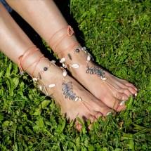 Boho Barefoot Sandals Beach Wedding Bare Feet Sandles Foot