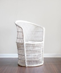 Vintage White Wicker Patio Furniture