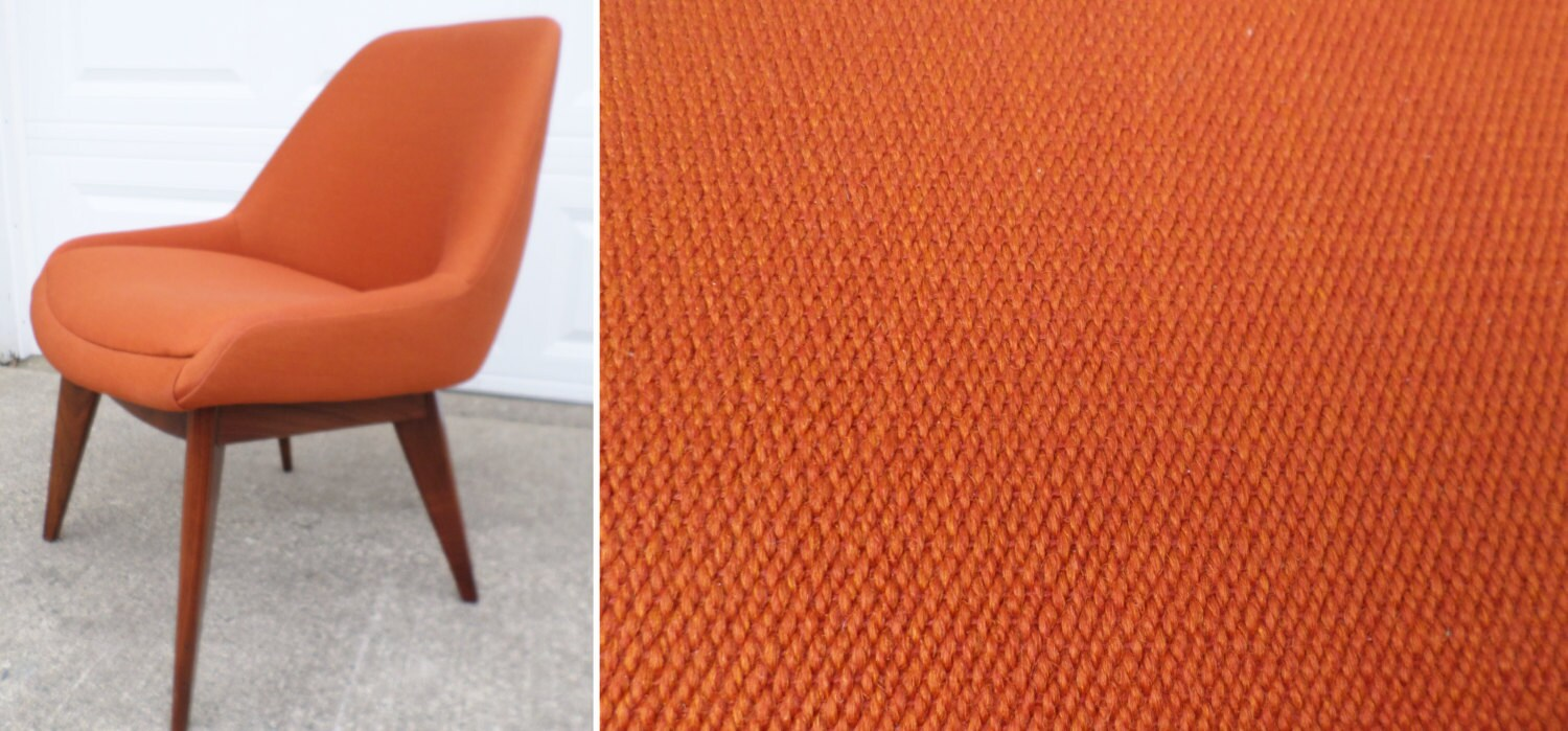 orange upholstered chair ikea furniture chairs vintage club steelcase model 450 made in 1981 eames era mid century modern side home office haute juice