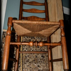 Wicker Ladder Back Chairs Chair Covers For Hire Polokwane Turned Woven Rush Seat