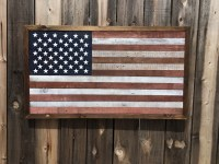 Rustic American Flag 2 Weathered Wall Art Man by ...