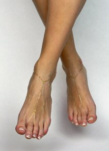 Minimalist Barefoot Sandals Gold Anklet Golden Foot