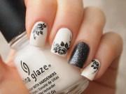 black roses nail art water decals