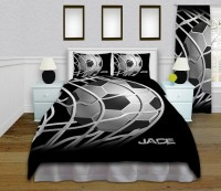 Boys Soccer Duvet Cover Teen Soccer Bedding by