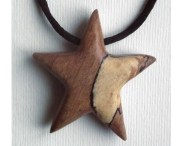 star necklace wooden pendant hand