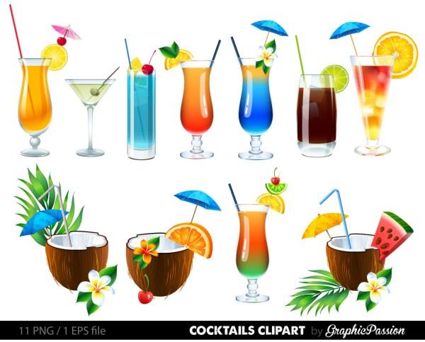 summer cocktails clipart cocktail