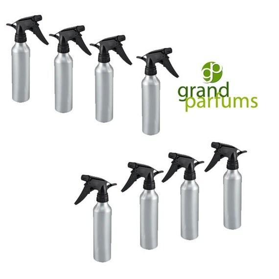 4 Colored Aluminum 300mL (10 Oz) Fine Mist Trigger Spray