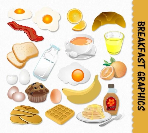 breakfast food clip art graphics