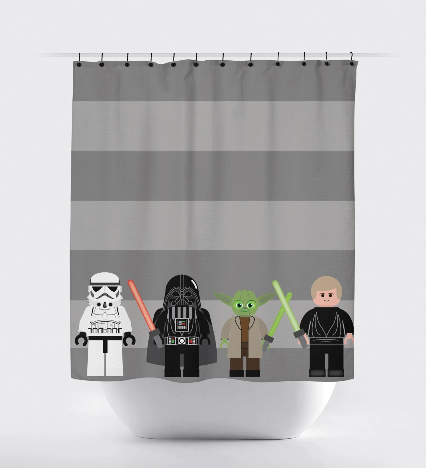 Items similar to star wars shower curtain starwars shower curtain jedi shower curtain shower