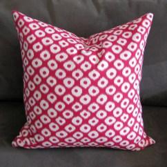 Pink Throw Pillows For Sofa Walmart Sofas And Sectionals Ikat Pillow Print