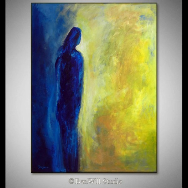 Blue Modern Abstract Art Oil Painting