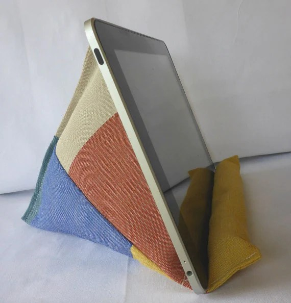 iPad Pillow Lap Stand Kindle Lap Pillow Red Blue Yellow