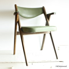 Coronet Folding Chairs Wooden Chair Step Stool Combo Vintage Wonderfold Wood Vinyl Green Danish Modern Norquist Products Style 240 A