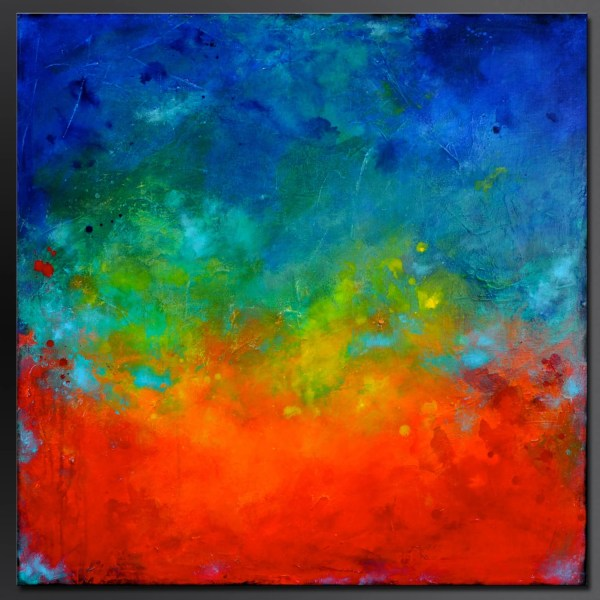 Abstract Acrylic Painting On Canvas