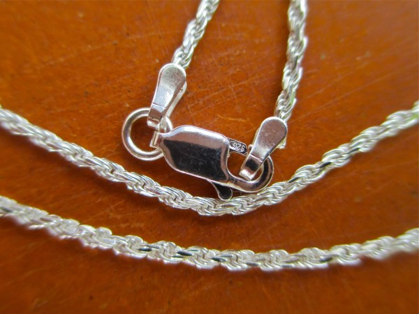 Rope Chain 925 Sterling Silver Necklace