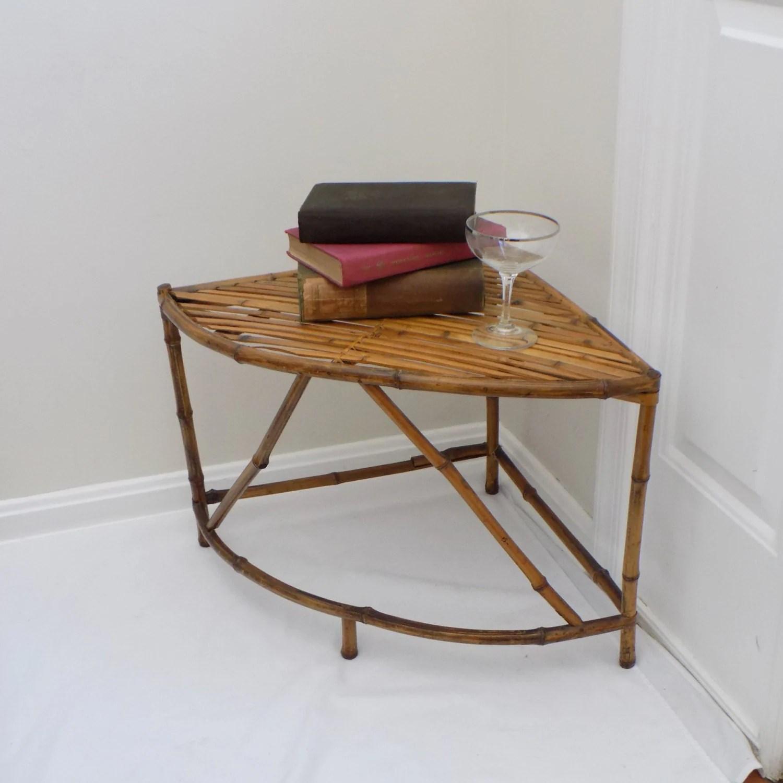 short beach chairs cool bean bag canada vintage bamboo cane rattan corner side table  palm