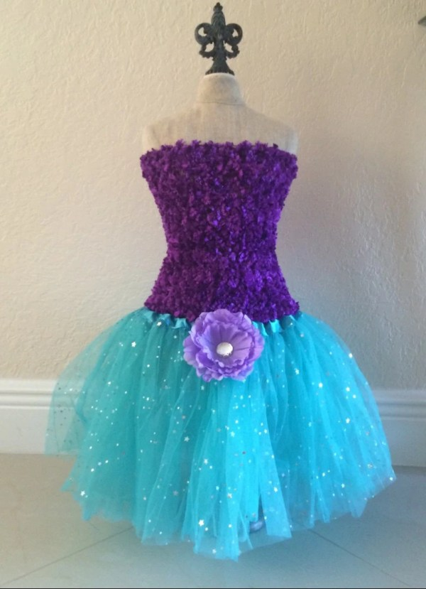 Purple Tutu Set Dress Little Mermaid