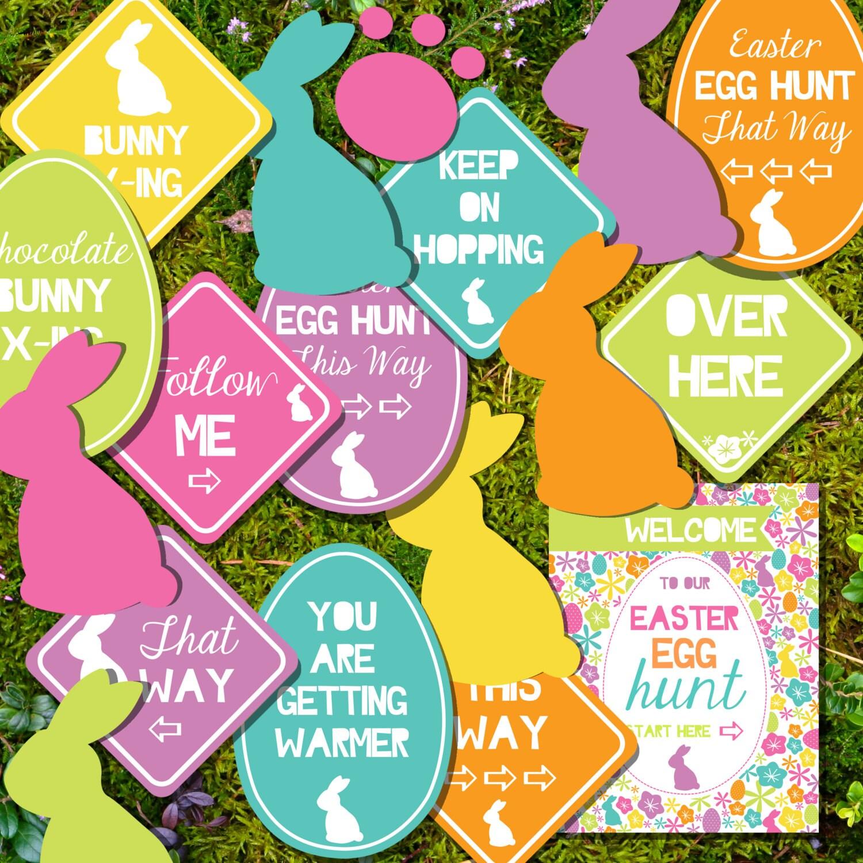 Easter Egg Hunt Printables Easter Egg Hunt Signs Instant
