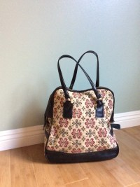 Vintage Floral Carpet Bag by PeachDeVintage on Etsy