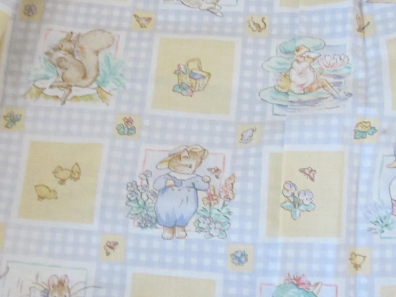 Vintage Beatrix Potter Peter Rabbit And Friends Curtains