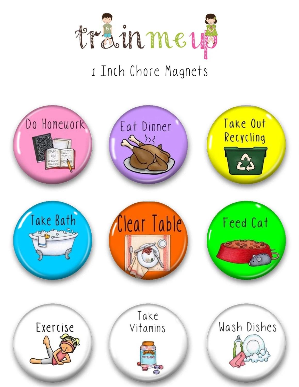 Chore Magnets Kids Chore Chart Magnets Chore Magnet