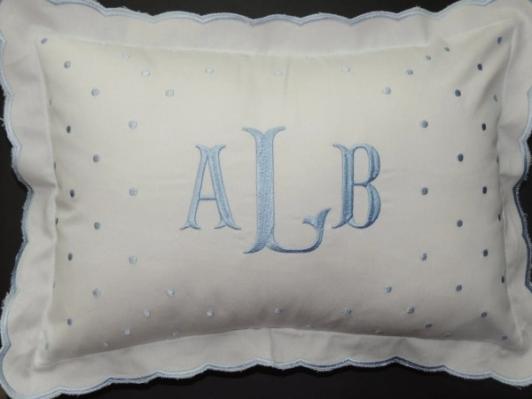Embroidered Baby Pillows Personalized