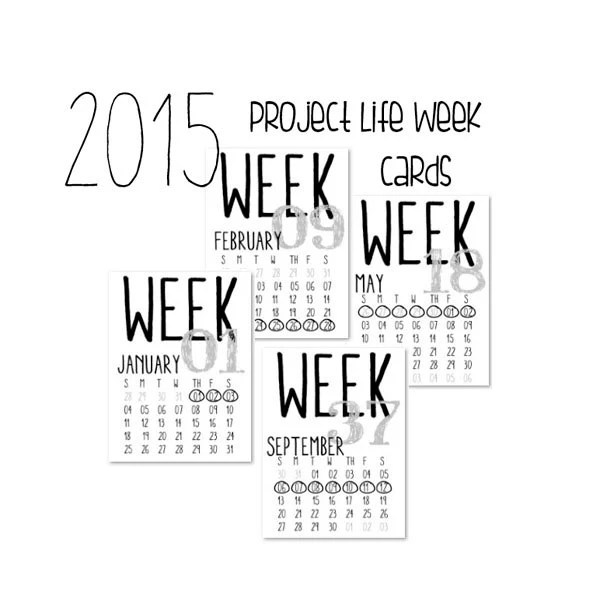 Items similar to Printable 2014 Numbered Week Cards with