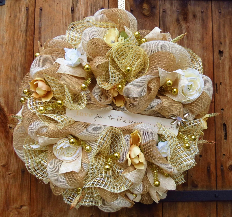 Everyday Deco Mesh Wreath Wedding Deco Mesh by