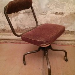 Upholstered Posture Chair Pink Childs Rocking Steampunk Industrial Sturgis Office