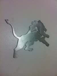 Detroit lions sign metal wall art