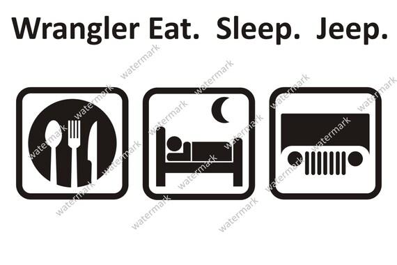 Items similar to Eat Sleep Jeep CJ TJ Wrangler Rubicon