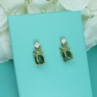 Christmas Earrings Christmas Bow Present by ...