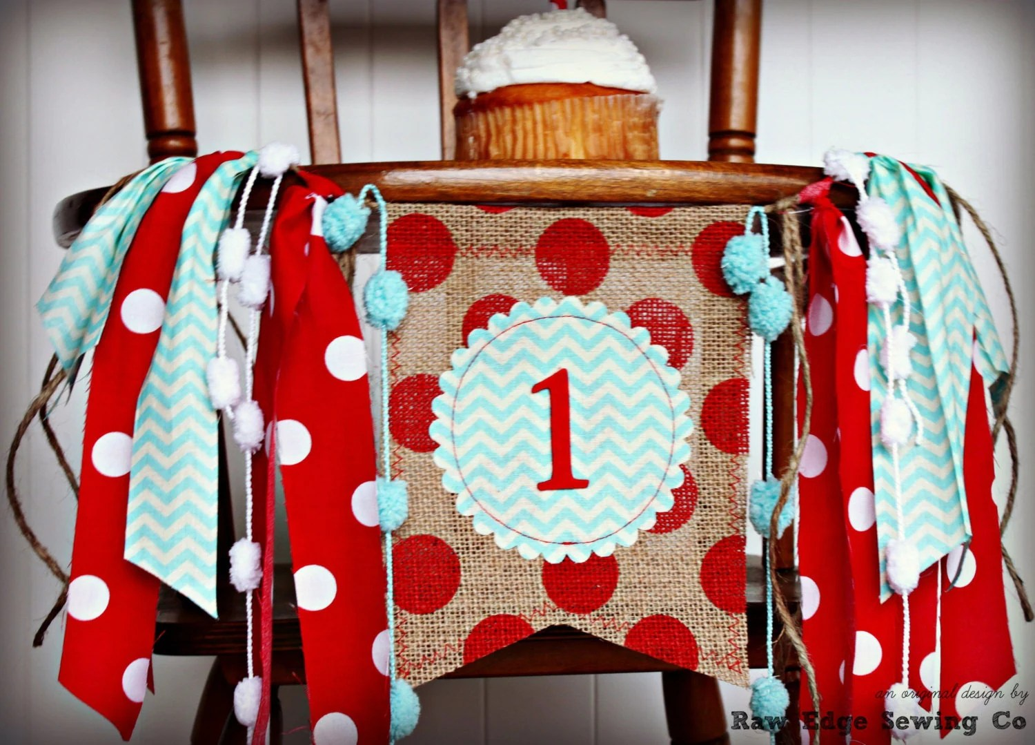 monkey high chair material sock birthday highchair banner circus red