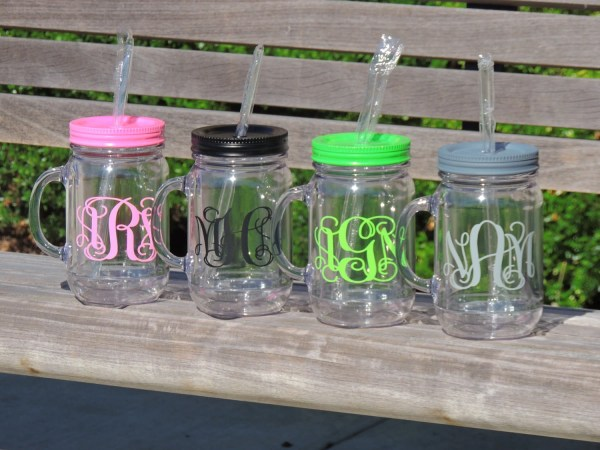 Personalized Mug Acrylic Cup Country Wedding Monogrammed