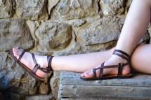 Purple Women' Sandals Leather Barefoot