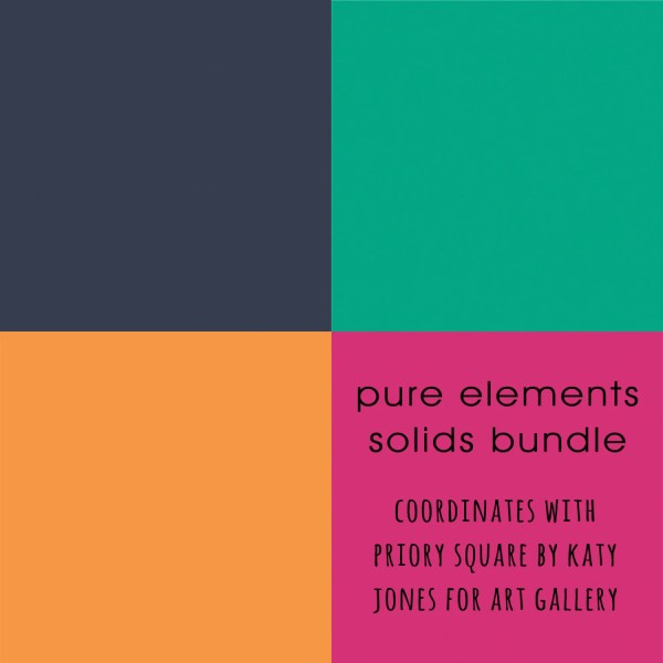 Priory Square Solids Fabric Bundle Pure Elements Coordinates With Katy Jones