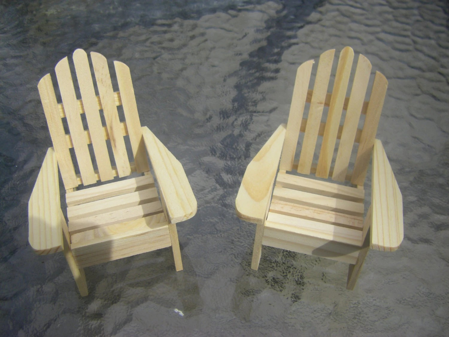 Mini Adirondack Chairs Mini Adirondack Chairs Set Of Two Dollhouse Patio Fairy