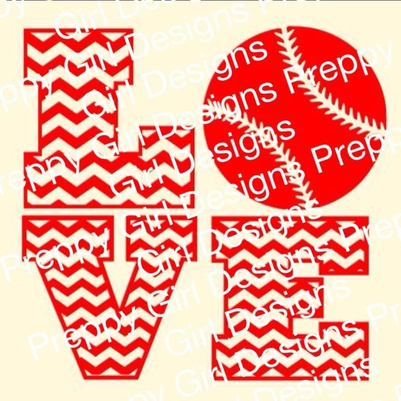 Download Chevron Love Baseball Softball svg dxf file by UrbanBelles ...