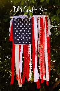 DIY Craft Kit - Flag Banner - Shabby Chic American Flag ...