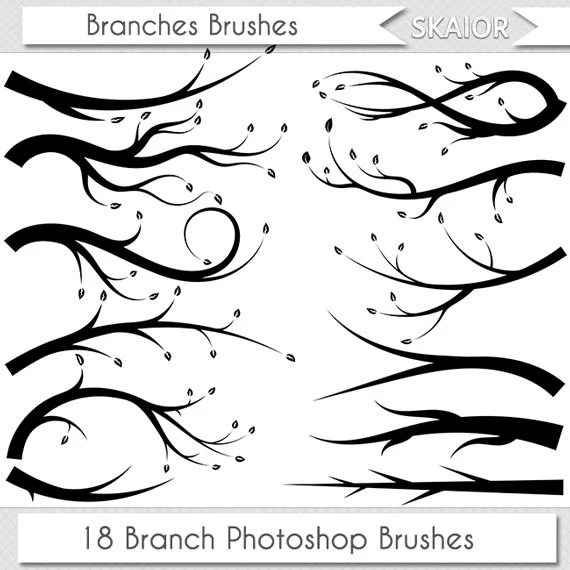 Branches Photoshop Brushes Silhouette Branch Brushes Tree