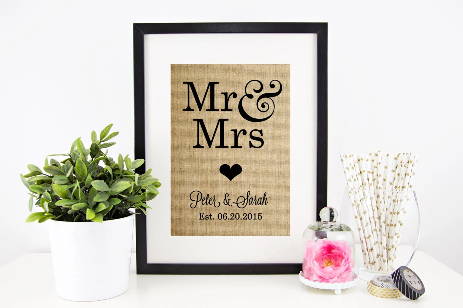 Mr And Mrs Sign Wedding Gift For Couple By Chathamplace On
