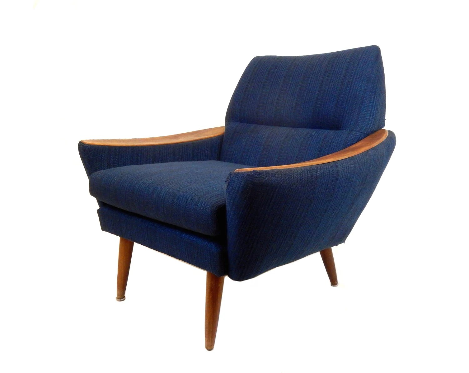 modern blue chair wall mounted mid century accent danish