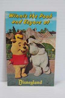 Disneyland Post Card Pooh And Eeyore In Fantasylandvintage