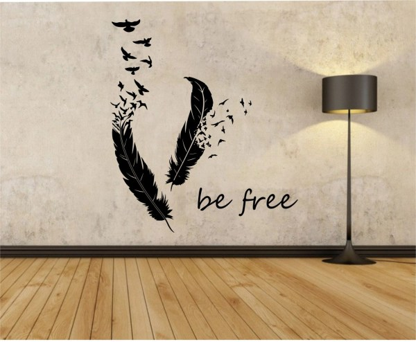 Feathers Turning Birds Vinyl Wall Decal Sticker Art Decor