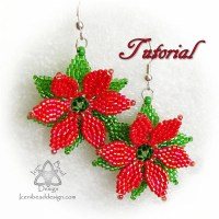 PDF Tutorial Christmas Poinsettia Earrings with Faceted ...