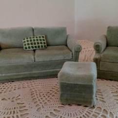 Dollhouse Sofa Interesting Beds Furniture 3 Piece Living Room Gen Set Matching