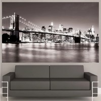 New York Decal Mural New York Wall Decal NYC Cityscape New